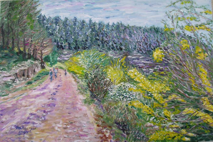 On tha Path Surrounding the Mountain by Moti Lorber
