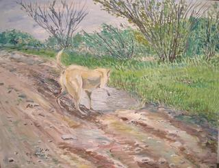 On the Path after the Rain by Moti Lorber