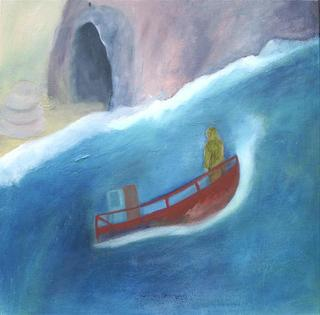 Boat at Sea by Jan Neale