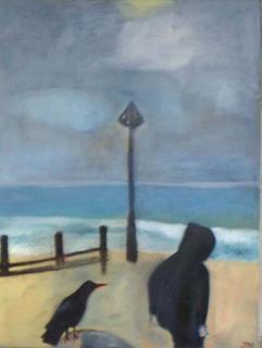 Groyne Bird by Jan Neale