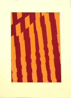 Untitled 6 (Orange and Maroon) by Fernando de Vicente