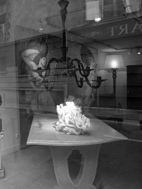 Paris Reflections Woman and Horse by Jack Dzamba