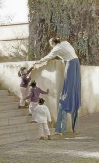 Zancudo with Children II by Jose Luis Mendez Fernandez