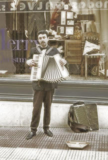 Accordionist: by Atman Victor