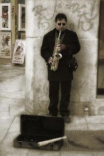 Saxophonist by Jose Luis Mendez Fernandez