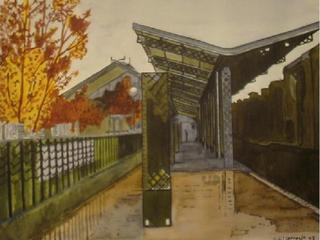 Outside Railway Museum by Rafael Gil