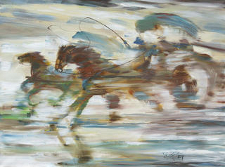 Horse Cart Racing by U Lun Gywe