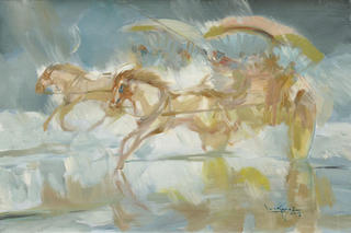 Horse Carts by U Lun Gywe