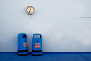 Two Blue Bins by Peter Muller