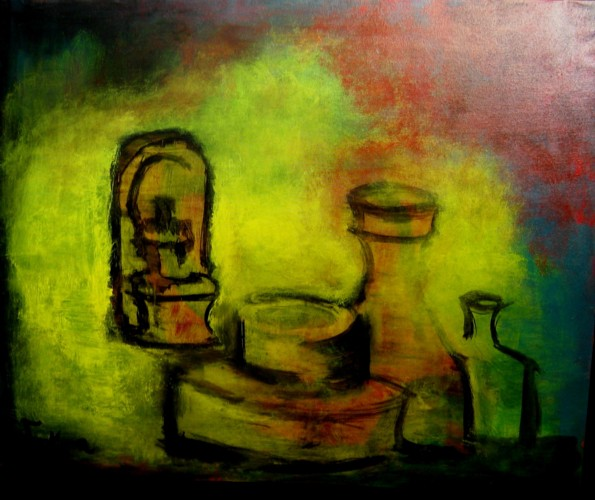 Still Life with Candle by Victor Ventura
