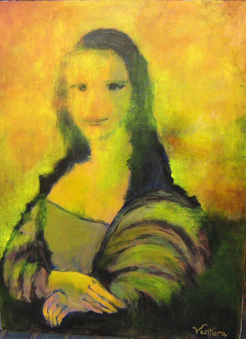 Yellow Mona Lisa by Victor Ventura