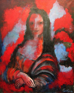 Red Mona Lisa by Victor Ventura