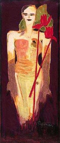 Women / Cyclamen by Elvira Bach