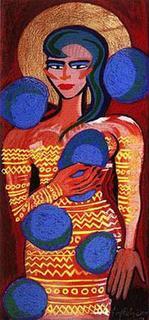 Zwilling I by Elvira Bach