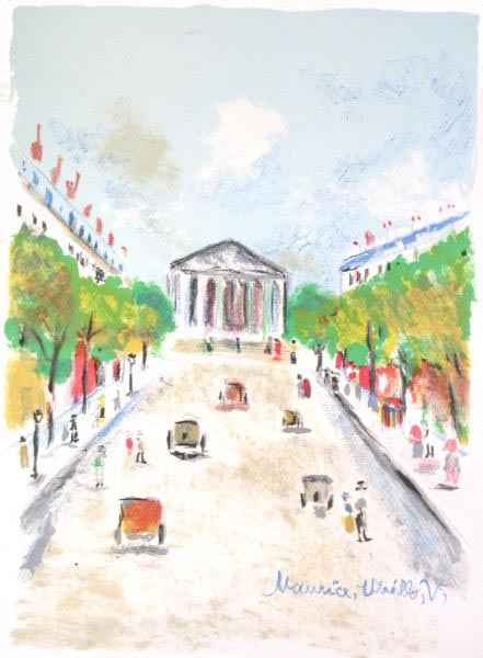 Paris Capitale : La Madeleine by Maurice Utrillo