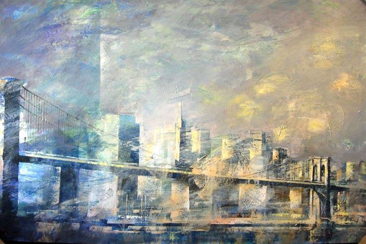 Puente de Brooklyn iluminado by Cristina Bergoglio