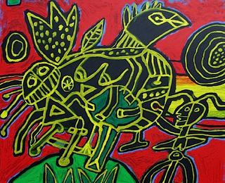 The Bird Born out of The Landscape I by Corneille