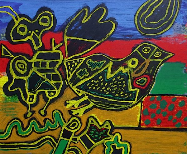 The Bird Born out of The Landscape II by Corneille