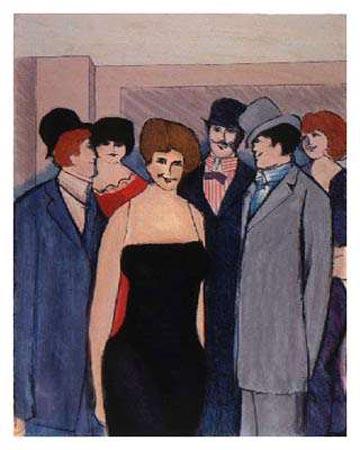 Dame in Gruppe II by David Schneuer