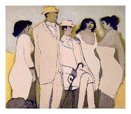 Frau in Weiss by David Schneuer