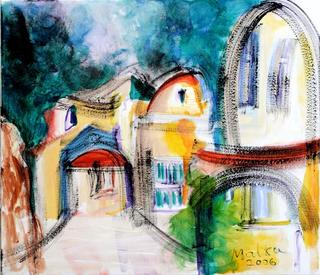 Yard in Jaffa by Malka Tsentsiper