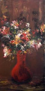 Still Life – Flowers in Dark by Malka Tsentsiper