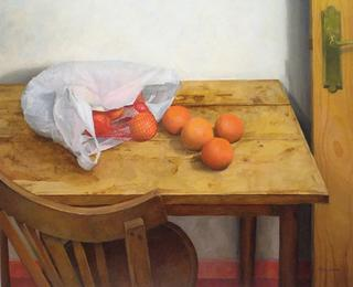 Bag with Oranges by Pablo Carnero