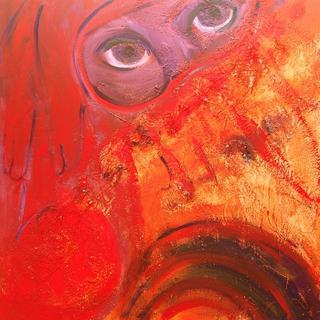 The Red Niqab by Esther Gil