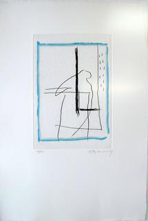Blanc Mondrian ( from the Policromia o La Galeria dels Miralls portfolio ) by Albert Rafols Casamada