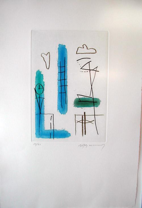 Blau clar - Torres Garcia ( from the Policromia o La Galeria dels Miralls portfolio ) by Albert Rafols Casamada