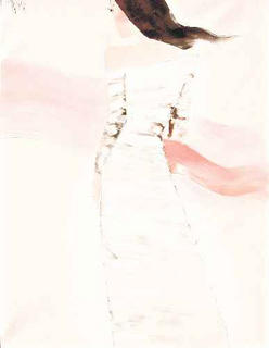 Lady in Pink Scarf by Nguyen Dieu Thuy