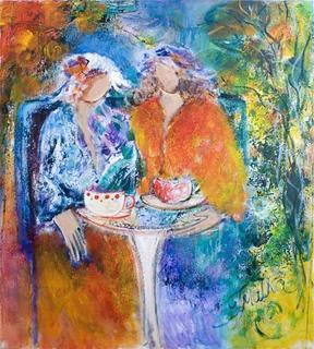 Coffee in a Garden by Malka Tsentsiper
