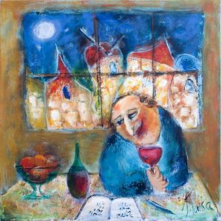 I am Sitting in a Bar in Night Jerusalem… by Malka Tsentsiper