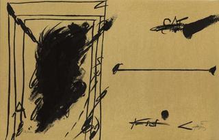 Ligne d'horizon by Antoni Tàpies