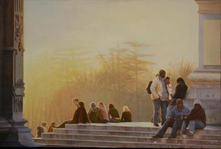 People in El Retiro by Carlos Marijuan