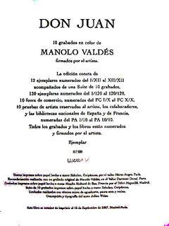 Book: Don Juan by Manolo Valdés
