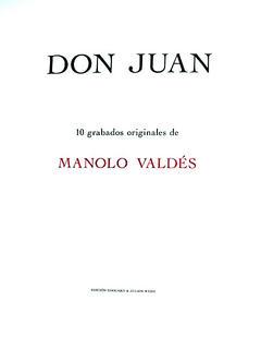 Book :Don Juan by Manolo Valdés