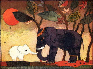 Kleine Urwaldbegegnung (Little Jungle Meeting) by Jutta Votteler