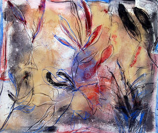 Ocher Flowers by Soledad Fernández
