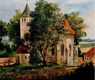 Landscape with Church by Sergey Frolakov