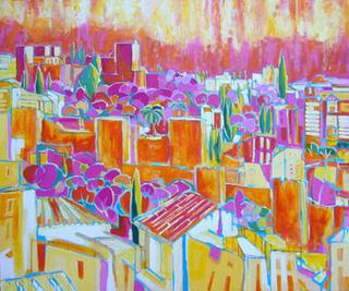 Cuando cae el sol en la muralla by Alfonso Ocón