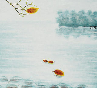 Leaves 13.The morning by the West Lake by Pham Kien Giang