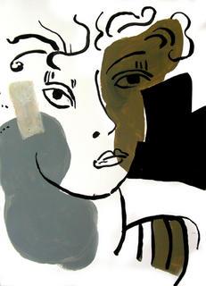 Faces 04 by Ernesto Maguiña Gómez