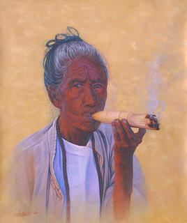 Puffin Grandma (2) by Aung Kyaw Htet