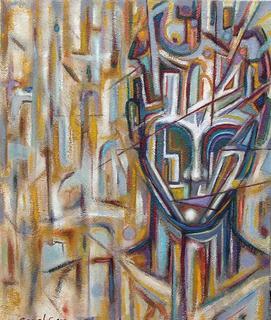 Retroprogressive Portrait 7 by Carmelo L. Canales