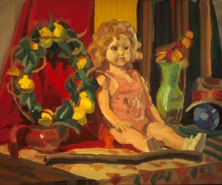 Still Life with Wreath and Doll by Peter Xiao
