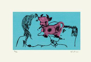 La vache rose by Erik Dietman