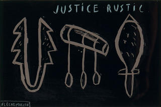 Justice rustic by Jacques Flechemuller