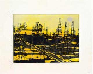 Oil Fields, September 2004 by Donald Sultan