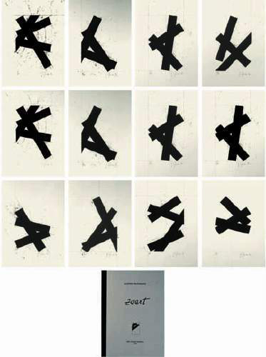 Zwart (portfolio of 12 prints) by Godwin Hoffmann